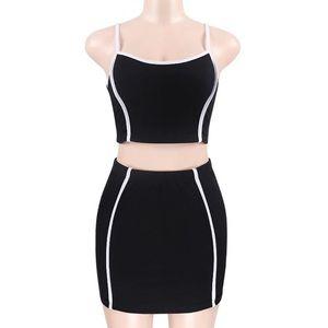 Dresses & Skirts - Black & White Skirt Set